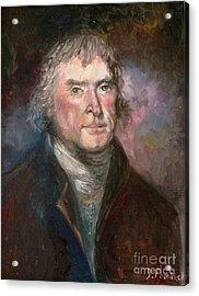 Thomas Jefferson Acrylic Print by Irene Pomirchy