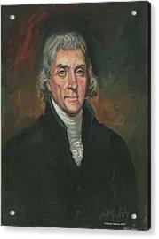Thomas Jefferson Acrylic Print by Kaziah Hancock