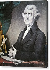 Thomas Jefferson Acrylic Print by Nathaniel Currier