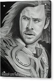 Thor Odinson - Chris Hemsworth Acrylic Print by Enrique Garcia