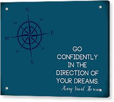 Thoreau Compass Acrylic Print