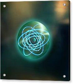 Thorium Atom Acrylic Print by Richard Kail