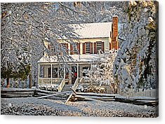 Acrylic Print featuring the photograph Thorntree In Snow by Linda Brown