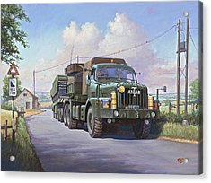 Thornycroft Antar. Acrylic Print by Mike  Jeffries