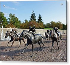 Thoroughbred Park Acrylic Print by Roger Potts