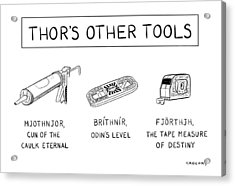 Thor's Other Tools -- Various Carpentry Tools Acrylic Print by Alex Gregory