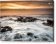 Thor's Well Acrylic Print by Mike  Walker
