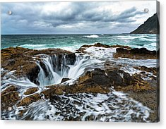 Thor's Well Acrylic Print by Robert Bynum