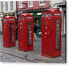 Those Red Telephone Booths Acrylic Print