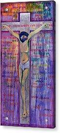 Thou Shalt Not Kill Acrylic Print by Laila Shawa