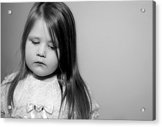 Thoughtful Little Girl Acrylic Print by Stephanie Grooms