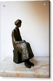 Thoughtful Woman Acrylic Print by Nikola Litchkov
