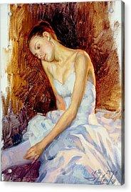 Thoughtful Young Ballerina Acrylic Print