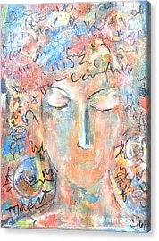 Thoughts Acrylic Print by Chaline Ouellet
