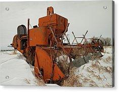 Thrashing The Snow Acrylic Print by Jeff Swan