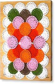 Thread On Canvas Acrylic Print