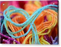 Threads Close Up Acrylic Print