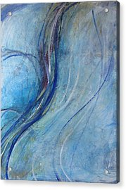 Acrylic Print featuring the painting Threads by John Fish