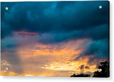 Threatening Skies At Sunset Acrylic Print by Optical Playground By MP Ray