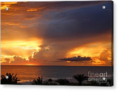 Acrylic Print featuring the photograph Threatening Sunset by Mariarosa Rockefeller