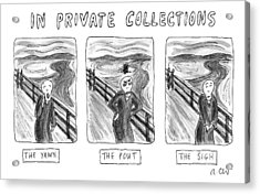 Three Alternate Versions Of Edward Munch's Acrylic Print