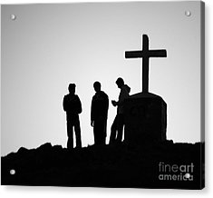 Three At The Cross Acrylic Print