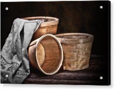 Three Basket Stil Life Acrylic Print by Tom Mc Nemar
