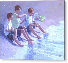 Three Beach Boys Acrylic Print by J Reifsnyder