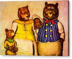 Three Bears Family Portrait Acrylic Print