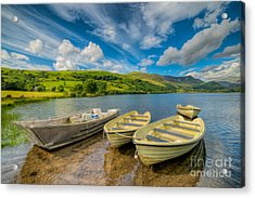 Three Boats Acrylic Print by Adrian Evans