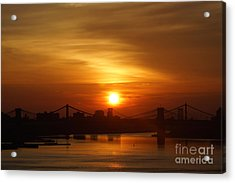 Three Bridges At Sunrise Acrylic Print