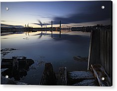Three Bridges Acrylic Print by Eric Gendron