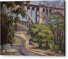 Three Bridges Acrylic Print by Jane Thorpe