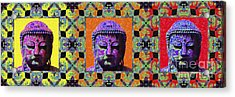 Three Buddhas 20130130 Acrylic Print by Wingsdomain Art and Photography