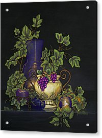 Three Candles Glowing Acrylic Print