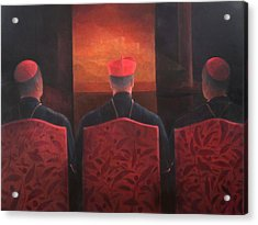 Three Cardinals, 2012 Acrylic On Canvas Acrylic Print