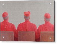 Three Cardinals II, 2012 Acrylic On Canvas Acrylic Print