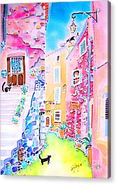 Three Cats In The Alley Acrylic Print