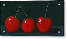 Three Cherries Acrylic Print by Karyn Robinson