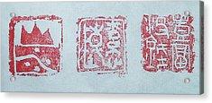 Three Chops Acrylic Print