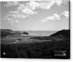Three Cliffs Bay Acrylic Print