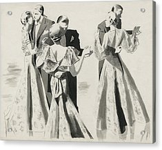 Three Couples Dancing Acrylic Print