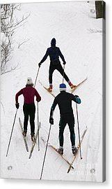 Three Cross Country Skiers. Acrylic Print