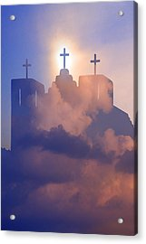 Three Crosses Acrylic Print by Jim Zuckerman