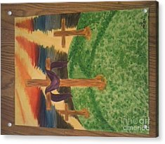 Three Crosses  Acrylic Print by Kae Mangan