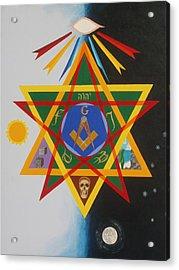 Three Degrees Acrylic Print by Adrien Barlow