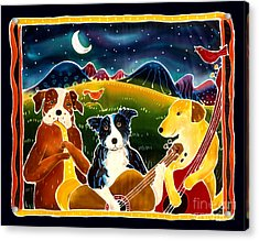 Three Dog Night Acrylic Print by Harriet Peck Taylor