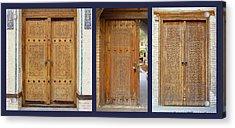 Three Doors To Bukhara Acrylic Print
