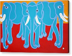 Three Elephants Acrylic Print