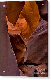 Acrylic Print featuring the photograph Three Faces In Sandstone by Mae Wertz